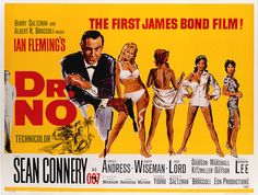 James Bond Vintage Poster - Dr No  the first bond movie