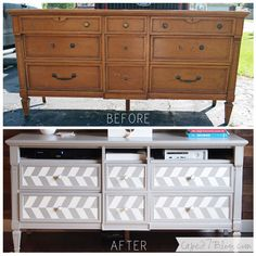 Turn a Dresser into a Media Console: great way to use something cheap and turn it into a dream