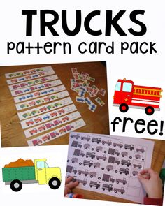 Here are some free printable pattern cards for preschool and kindergarten. You& find pattern cards, pattern strips, and two worksheets. Printable Math Worksheets, Kindergarten Math Worksheets, Preschool Curriculum, Teaching Math, Math Activities, Preschool Activities, Free Printable, Printables, Preschool Learning