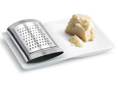 """Blomus """"Sitio"""" Parmesan Grater SKU# 63408 By: Blomus Products Stainless steel and porcelain parmesan grater is the perfect tool for the kitchen guru. Kitchen Tools, Kitchen Gadgets, Kitchen Dining, Kitchen Stuff, Kitchen Utensils, Parmesan, Commercial Planters, Cheese Grater, Modern Outdoor Furniture"""