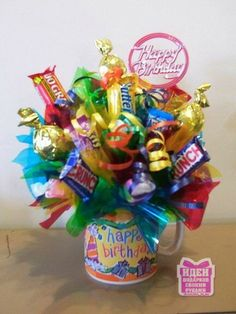 - Candy Gifts and Crafts, Candy Bouquets, Centerpieces, Handmade Crafts, Hand Painted Glassware/Bucket - ecomPlanet Web Hosting - the Free hosting solution worldwide Candy Boquets, Candy Bar Bouquet, Bouqets, Bouquet Cadeau, Gift Bouquet, Candy Gift Baskets, Birthday Gift Baskets, Raffle Baskets, Coworker Birthday Gifts