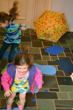 Val's Crafty Corner - Indoor Puddle Jumping! - Melissa & Doug Blog  psicomotricitat bassals
