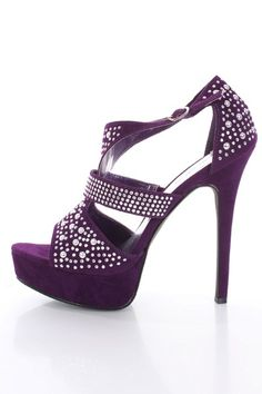 Purple wedding shoes Bling bridal shoes women high heels prom ...