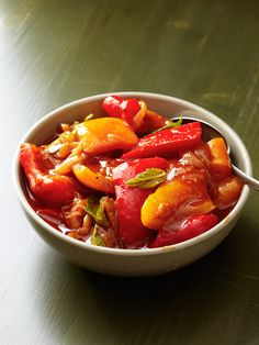 Pepperonata Rustic.. Excellent side dish my Italian grandmother would cook-smells delicious--- - #sauce sugo #fav *♡_