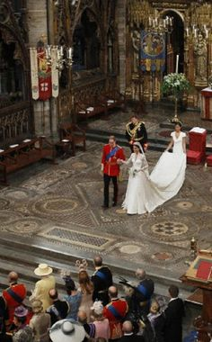 The newly wed Prince William and his bride Kate Middleton at the Westminster Abbey in London on 29 Apr 2011