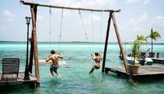 Water swing set
