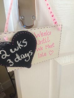 Until baby is here plaque x