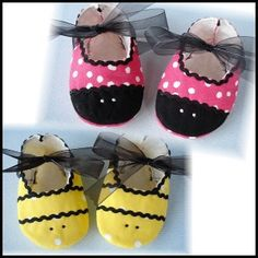 Precious Bee & Ladybug Booties - Sizes 0-14mths  from: youcanmakethis.com