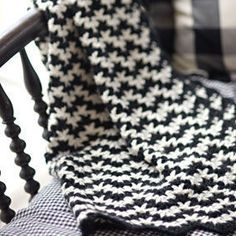 We love the vintage look of this crochet blanket. Use five colors (or ten!) for a classic look, or go graphic with just two colors! Perfect for baby, and it's easy to size up to adult proportions, if