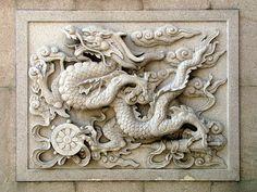 """Wall carving, Tianming Si, Changzhou, China"" by DaveLambert | Redbubble"