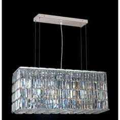 8 Light contemporary chandelier Chrome plated