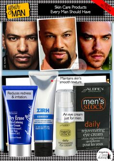 HueKnewIt Your Man: skin care products for African-American men and Black Men featuring Deception star Laz Alonzo, actor/rapper Common and Grey's Anatomy star Jesse Williams
