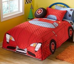 red car style bedding for boys design