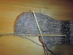 HÆLFELLING Her er ei oppskrift i tekst og bilder på hvordan man feller til hæl på lester. Diy And Crafts, Arts And Crafts, Knitted Hats, Socks, Knitting, Slippers, Fashion, Blogging, Threading