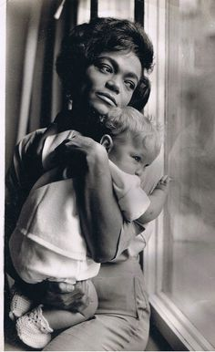 Eartha Kitt and daughter. So sweet