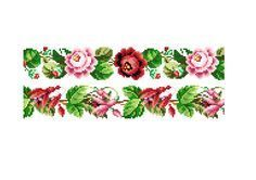 Floral bands- Cross stitch pattern . Instant download PDF