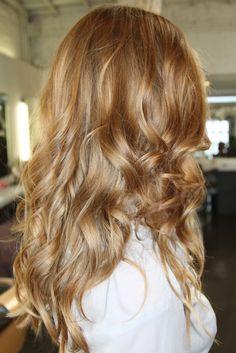 Honey golden auburn blonde! Warm sunkissed tones. Subtle highlights and subtle faint ombre.