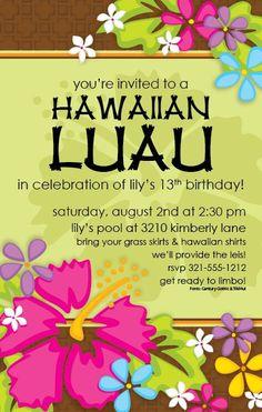 Free Printable Luau Invitation Templates | Tropical Luau Invitation - This beautiful design from Paper So Pretty ...