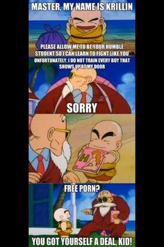 Otaku Meme » Anime and Cosplay Memes! » How Krillin REALLY got his training!
