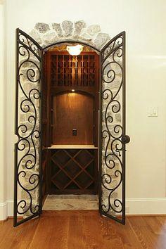 Wine closet off the kitchen wine cellars pinterest for Wine grotto design