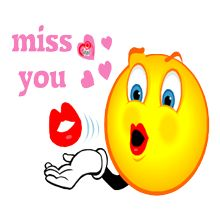 I miss you emoji
