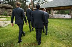 J. La Plante Photo   Colorado Rocky Mountain wedding photography   Estes Park wedding   Groom walking to ceremony