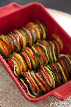 Tian de Légumes - Impressionnez vos invités seulement avec l'aide d'une mandoline! ;-)