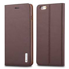 """iPhone 6 / 6s 4.7"""" Genuine Leather Wallet Case ,WenBelle [Flower Umbrella Series] Slim Fit,Stand Feature,Premium Protective Case Wallet Leather Flip Cases for Apple iPhone 6 6s 4.7 Inch (Brown). Pure hand made of first layer leather, full leather design and hand feeling is more top-grade. Good texture of outer layer, soft flannel lining, scratch resistant & shock resistant. Plus 1 Card Slot to conveniently store ID or Credit Card. Can fold into a stand to prop device horizontally for a..."""