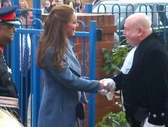 February 18, 2015 - After a helicopter ride from Staffordshire, Kate's arrived at Action for Children in Smethwick.