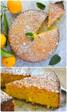 Gluten Free Tangerine Cake ~ this delicious flourless cake made with the whole fruit and almond flour in the Italian tradition ~ the ultimate orange cake! Patisserie Sans Gluten, Dessert Sans Gluten, Gluten Free Sweets, Gluten Free Cakes, Gluten Free Cooking, Gluten Free Recipes, Healthy Cake Recipes, Baking Recipes, Tangerine Recipes Desserts