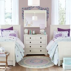 Girls Bedroom Purple girls shared bedroom | teal and purple | ung frames | **my home