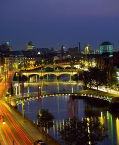 River Liffey bridges - Dublin, Ireland is such a beautiful city....with many amazing, historical sites..