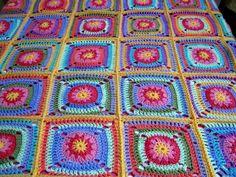 Granny Square Blanket Afghan