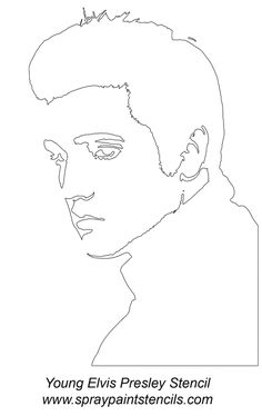 Animated Gif by Mariana Biasioli Face Stencils, Stencil Art, Art Sketches, Art Drawings, Young Elvis, Art Diy, 3d Laser, Rhythm And Blues, Silhouette Art