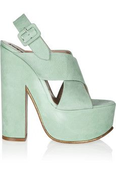 love a clunky seafoam blue shoe