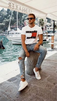 15 Men's Summer Outfits to Have Him Looking and Feeling Cool Streetwear Summer, Streetwear Fashion, Street Style Outfits, Fashion Outfits, Mens Fashion, Outfits Fo, Fashion Ideas, Nba Fashion, Casual Outfits
