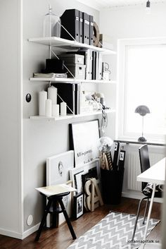 #home #decor #interior #design #inspiration #office #studio #black #white
