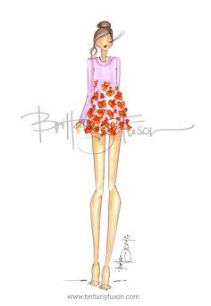 Brittany Fuson: Rebecca Taylor Spring '15 www.brittanyfuson.com