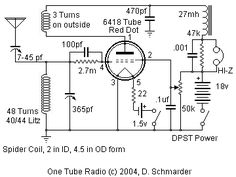 Dave's 3 Tube All Wave Receiver, Schematic | Radio | Pinterest ... on vacuum tube schematic diagram, vacuum cleaner wiring diagram, vacuum pump wiring diagram, vacuum tube heater diagram, t8 tube wiring diagram,
