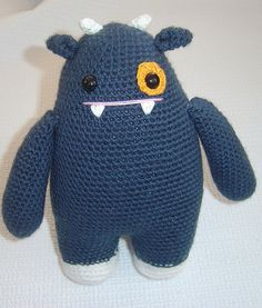 I like crocheted monsters - I make so many mistakes crocheting, but on a monster the mistakes look natural.