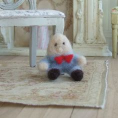 Dollhouse Miniature, Humpty Dumpty Doll, Dolls House Toys, Nursery Decor, Nursery Rhymes, Needle Felted, Shabby Cottage Chic, 1:12th Scale