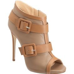 I think I might be on a buckles kick. But these tan shoes are light, easy to match, and oh-so-summery! (Giuseppe Zanotti)