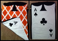 This homemade card costumes will be perfect for the extras that will act as the Queens cards.