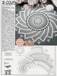 patterns and motifs crocheted motif Crochet Doily Diagram, Crochet Doily Patterns, Crochet Art, Crochet Round, Crochet Home, Thread Crochet, Filet Crochet, Irish Crochet, Crochet Table Runner