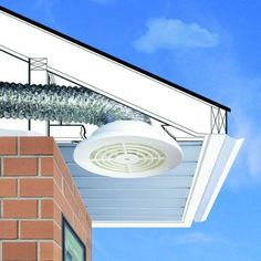 Venting a bathroom fan into an attic my detailed vent bath fan through soffit mobilsurabaya co everbilt 4 in 6 soffit exhaust vent bathroom exhaust… Roof Soffits, Bathroom Exhaust Fan, Camper Renovation, Construction, Bathroom Spa, Futuristic Architecture, Home Repairs, Skylight, Building A House