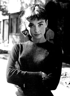 a really cute one of Audrey Hepburn - the ultimate gamine