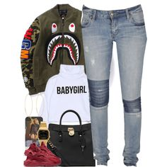 Untitled #1489 by power-beauty on Polyvore featuring polyvore, fashion, style, Lee, NIKE, MICHAEL Michael Kors, Casio, Lana and clothing