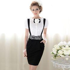 elegant black suspenders for women Suspenders Fashion, Suspenders For Women, Black Suspenders, Peplum Dress, Dress Up, Bow Shirts, Gala Dresses, Bodycon, Vintage Mode