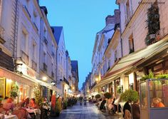 The 'vieux Tours', where Streets are full of restaurants and bars.