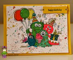 Bugaboo Stamps Birthday Monsters